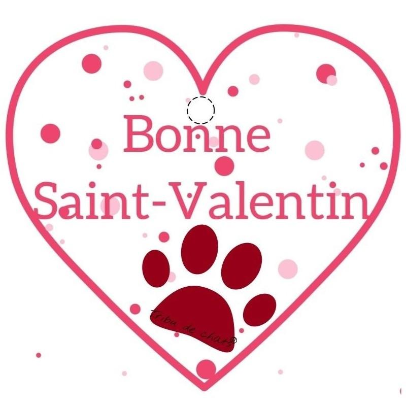 Carte de Saint-Valentin gratuite à imprimer, Coeur et patte de chat, Tribu de chats