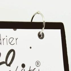 Calendrier de bureau mensuel 2020, illustré de silhouettes de chats noirs, détail, Tribu de chats