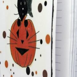 Carnet de notes Halloween, chat sorcier et citrouille, intérieur, Tribu de chats