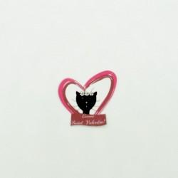 Autocollant pour cadeau, elle Saint-Valentin, motif madame chat dans un coeur, Tribu de chats