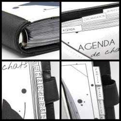 Agenda organiseur, détails couverture et intercalaires, Tribu de chats