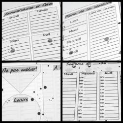 Agenda organiseur, détails plannings, Tribu de chats