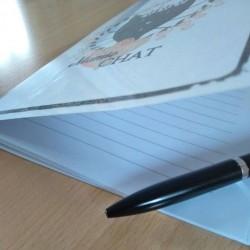 Petit carnet de notes chat, Mamie chat, tête de chat noir, A5, détail 4, Tribu de chats