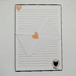 Papier à lettre Mamie chat, motif madame chat, Tribu de chats.