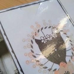 Marque page papier plastifié, Mamie chat, motif tête de chat, détail2, Tribu de chats