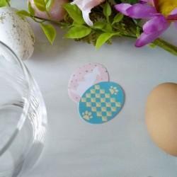 4 confetti de table de Pâques, motif oeufs, lapin et chat, détail 2, Tribu de chats