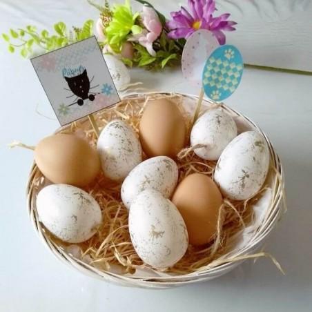 Corbeille à chocolats de Pâques, chat et oeufs,photo exemple, Tribu de chats