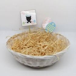 Corbeille à chocolats de Pâques, chat et oeufs,Tribu de chats