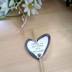 Etiquette de mariage pour feu de bengale, coeur et patte de chat, classique noir et blanc, Tribu de chats