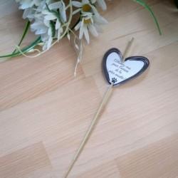 Etiquette de mariage pour cierge magique, coeur et patte de chat, classique noir et blanc, Tribu de chats