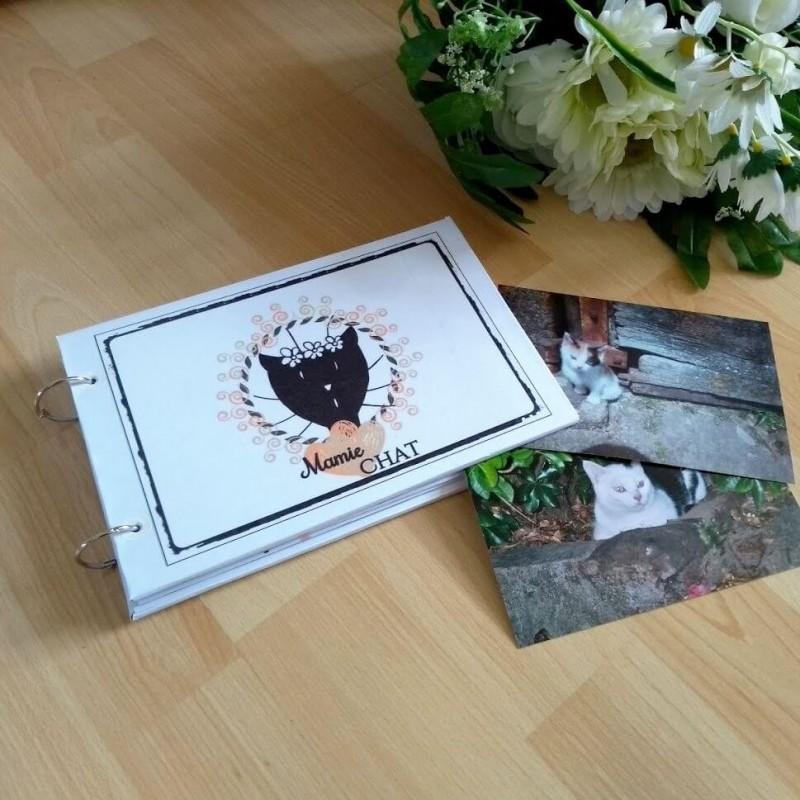 Album photos, mamie chat, blanc, photo exemple, Tribu de chats.
