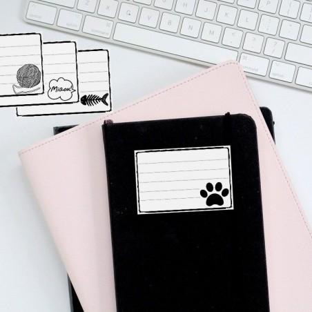 Ensemble d'étiquettes thème chat à imprimer, Tribu de chats