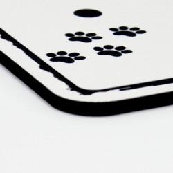 Détail caoutchouc tapis de souris chat  noir et blanc, présentation, Tribu de chats