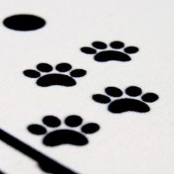 Détail tapis de souris chat  noir et blanc, présentation, Tribu de chats