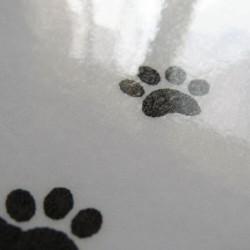 Sous-main plastifié silhouette de chat, noir et blanc,Tribu de chats