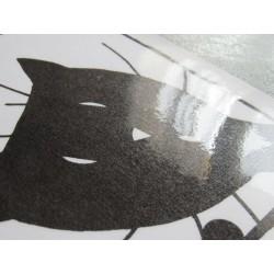 Sous-main plastifié humour chat, noir et blanc,Tribu de chats