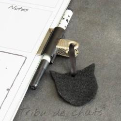Tableau mémo  chat, feutre effaçable et brosse feutrine, noir et blanc, Tribu de chats, exemple