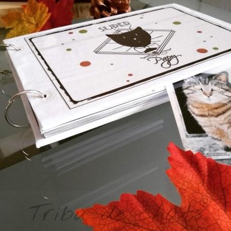 Album photos chat, Super papy, motif tête de chat Monsieur, photo,Tribu de chats.