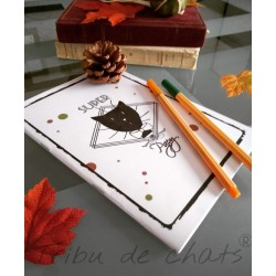Carnet de notes chat, Super papy, motif tête de chat Monsieur, photo, Tribu de chats.