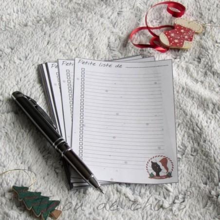 To do liste de Noël, chat avec un bonnet de Père Noël, Tribu de chats