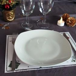 Set de table de Noël, chat Père Noël, à mettre sous les couverts et l'assiette, Tribu de chats