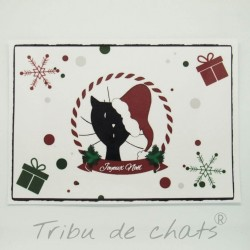 Set de table de Noël, chat Père Noël, Tribu de chats