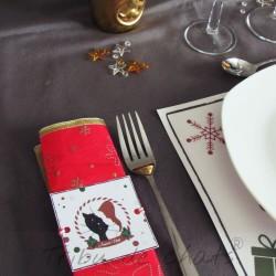 Rond de serviette chat Père-Noël, papier, exemple, Tribu de chats