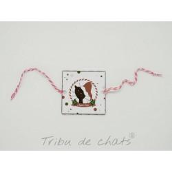 Rond de serviette chat Père-Noël, papier, Tribu de chats