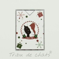 Marque page chat avec bonnet de Père Noël, Tribu de chats