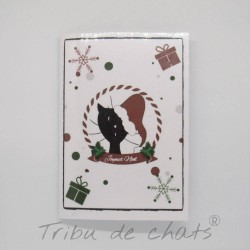 Carnet de notes de Noël, chat en Père-Noël, A5, Tribu de chats