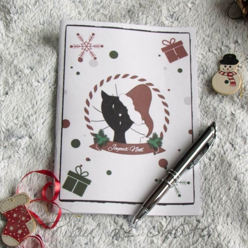 Carnet de notes de Noël, chat Père-Noël, A5, exemple, Tribu de chats