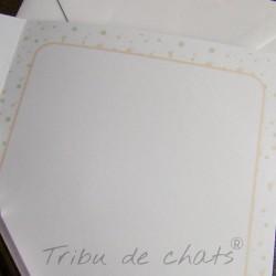 Carte de naissance, page intérieur pour écrire, Tribu de chats