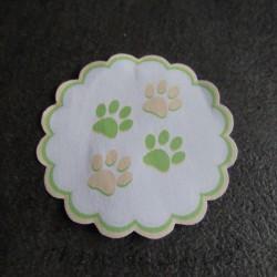 Etiquette autocollante de naissance, petites pattes de chat, , Tribu de chats