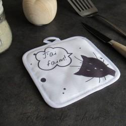 Manique tête de chat noir et texte humour, Tribu de chats, boutique amoureux des chats