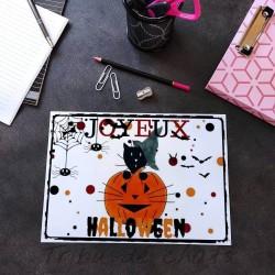 Sous-main chat Halloween, papier plastifié, Tribu de chats