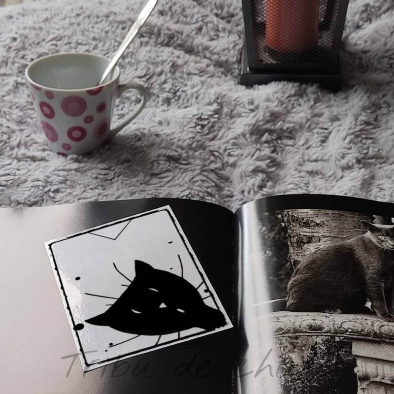 Marque page chat noir plastifié, Tribu de chats