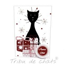 Carte Joyeux Noël chat,...