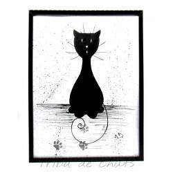 Cadre chat noir,...