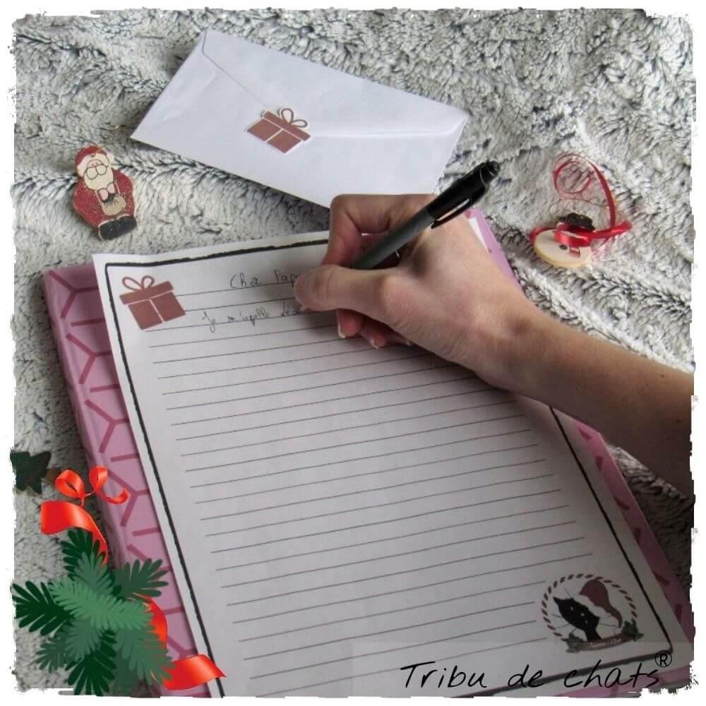 Astuce lettre au Père Noël avec le papier à lettre Tribu de chats