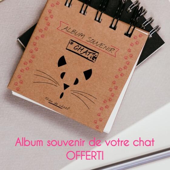 Album souvenir de votre chat offert par la Tribu de chats